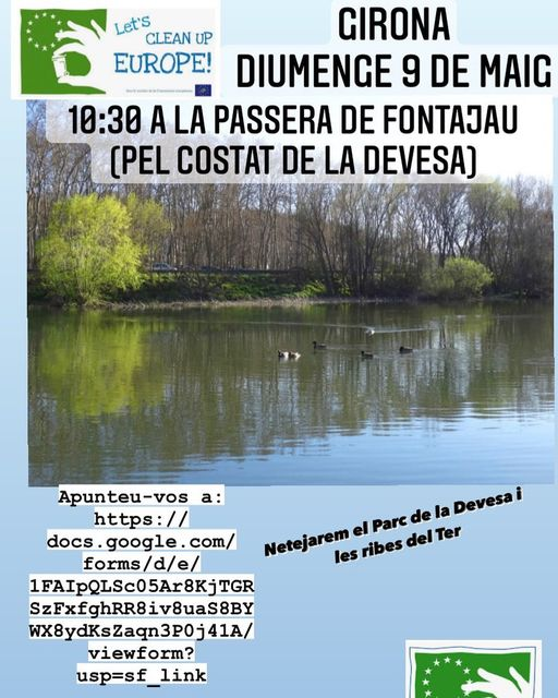 LET'S CLEAN UP EUROPE ! NETEGEM EL PARC DE LA DEVESA I LES RIBES DEL TER